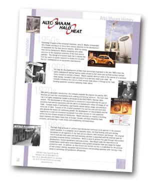 Alto-Shaam History Flyer